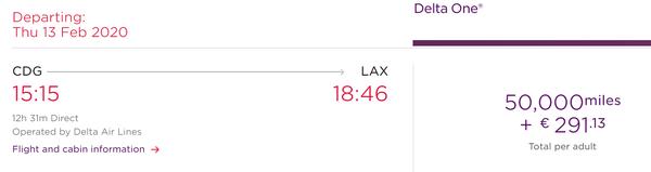 Redeeming Virgin miles on Delta flights to Europe