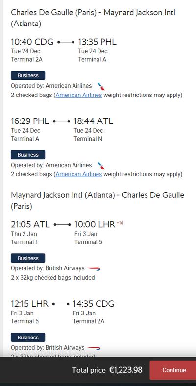 Cheap British Airways fares