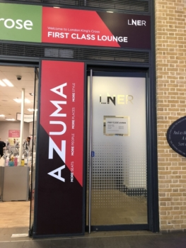 LNER Azuma train first class lounge