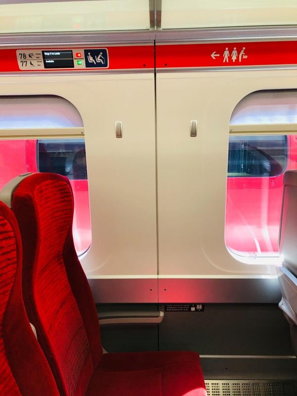 LNER Azuma train seats