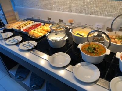 Gulf Air Lounge Heathrow Terminal 4 buffet