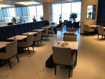 Gulf Air Lounge Heathrow Terminal 4 dining area