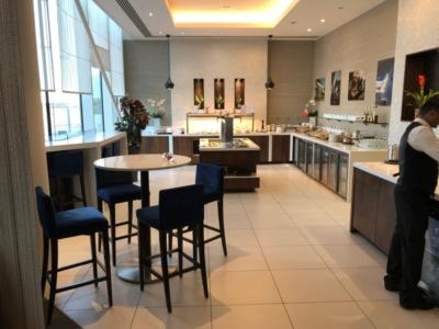 Gulf Air Lounge Heathrow Terminal 4 dining