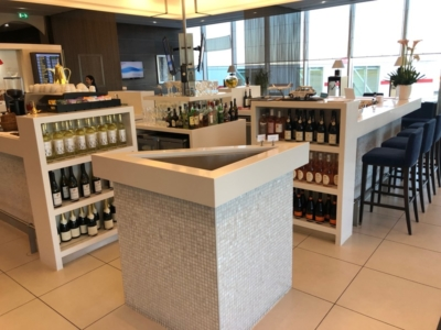 Gulf Air Lounge Heathrow Terminal 4 alcohol selection