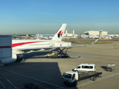 Gulf Air Lounge Heathrow Terminal 4 view Malasyia A350