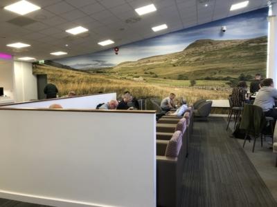 Leeds Bradford Airport White Rose Lounge seating
