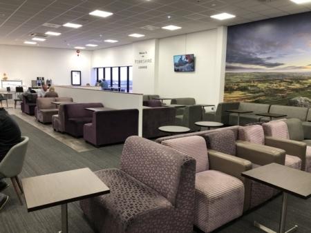 Leeds Bradford Airport Yorkshrie Lounge seating
