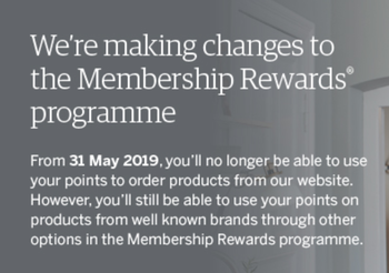 Membership Rewards no longer offering good