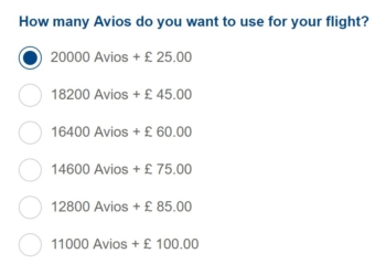 British airways trialling no taxes avios pricing