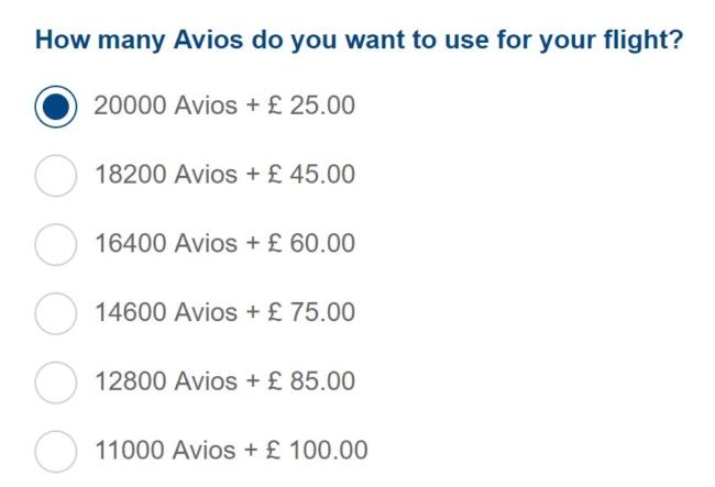 British airways trialling no taxes avios pricing