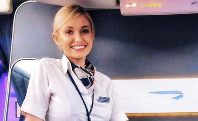 Love Island contestant Amy Hart British Airways