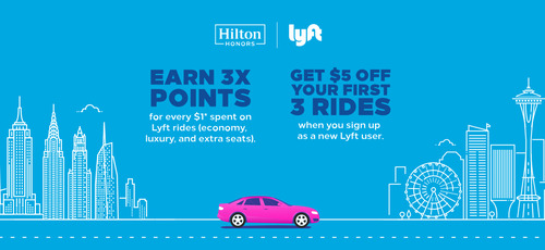 Lyft and Hilton partner to offer Honors points to riders