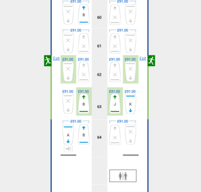 BA Club World Seat reservation prices top deck
