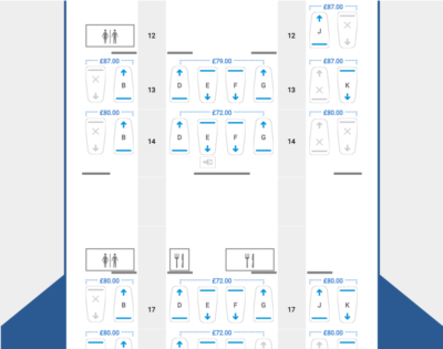 BA Club World Seat reservation prices front main deck