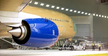BA A350 damaged at the Toulouse paintshop
