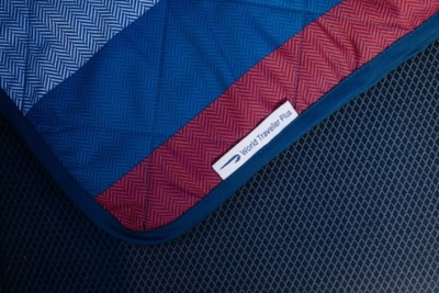 British Airways World Traveller Plus new blanket quilt