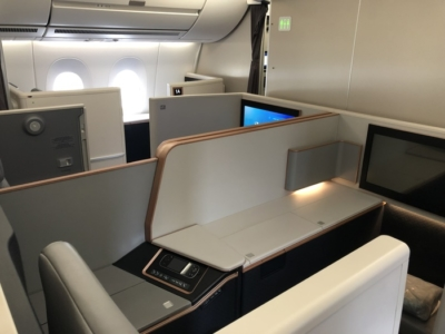 Malaysia Airlines Business Suite A350 review cabin
