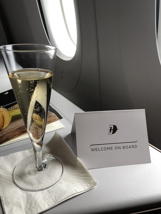 Malaysia Airlines Business Suite A350 review champagne