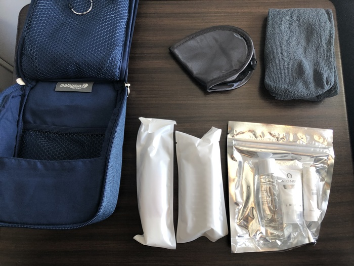 Malaysia Airlines Business Suite A350 review amenity kit