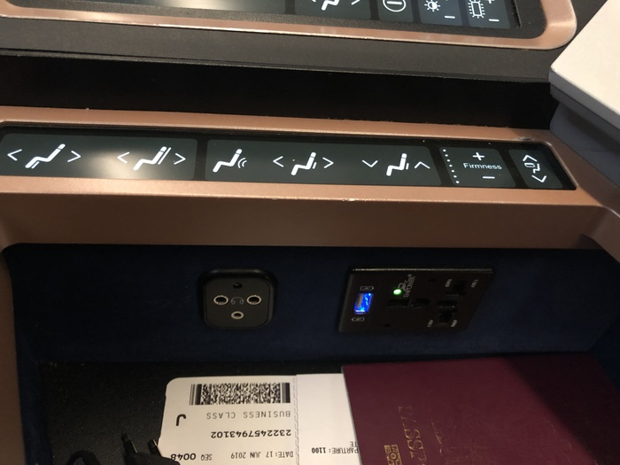 Malaysia Airlines Business Suite A350 review seat controls