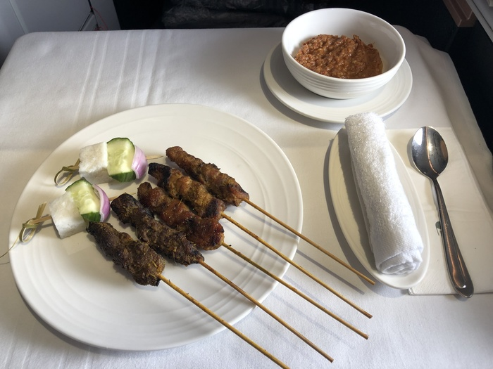 Malaysia Airlines Business Suite A350 review satay