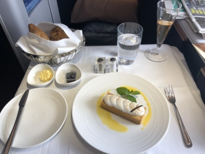 Malaysia Airlines Business Suite A350 review passionfruit meringue