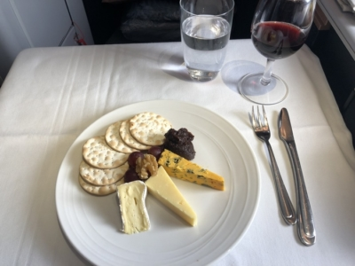 Malaysia Airlines Business Suite A350 review cheese board