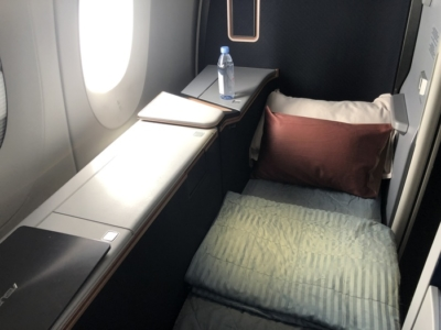Malaysia Airlines Business Suite A350 review bed