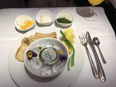 Malaysia Airlines Business Suite A350 review caviar