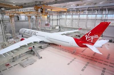 Virgin Atlantic A350 paintshop