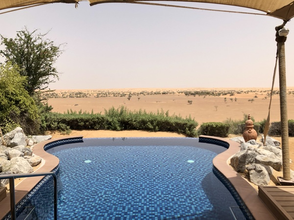 Marriott Al Maha Desert Resort Dubai private pool