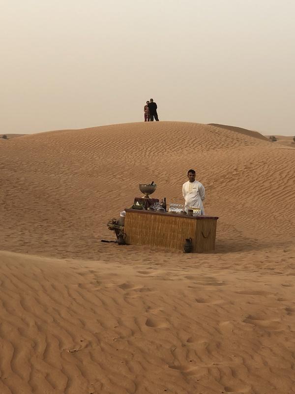 Marriott Al Maha Desert Resort Dubai sunset snacks