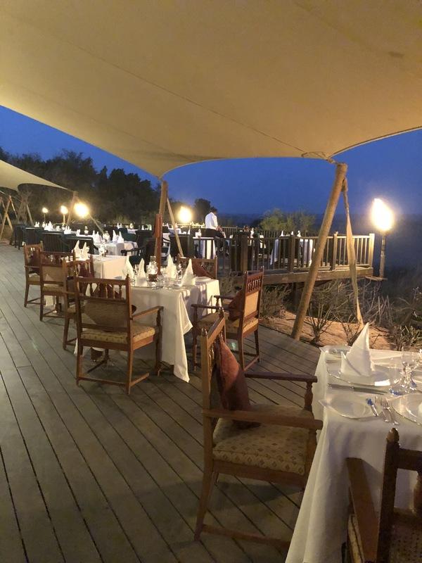 Marriott Al Maha Desert Resort Dubai Al Diwaan restaurant terrace