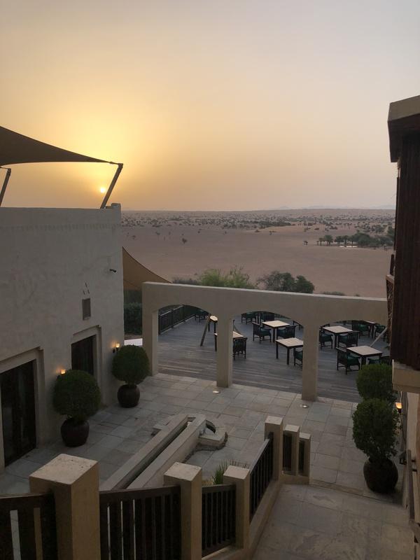 Marriott Al Maha Desert Resort Dubai sunrise