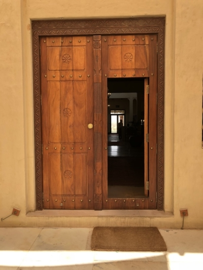 Marriott Al Maha Desert Resort Dubai wooden doorway