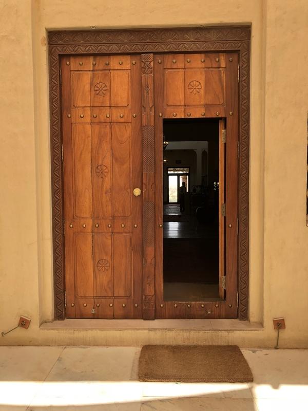 Marriott Al Maha Desert Resort Dubai wooden doorway