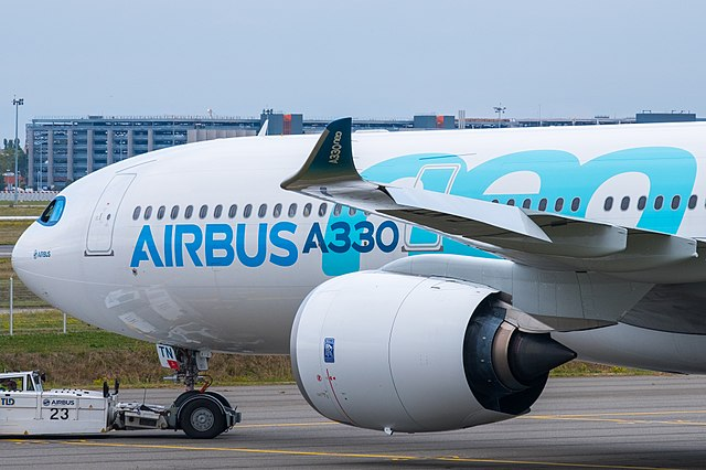 A330neo aircraft taxiing