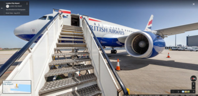 Google Street View of BA1 A318