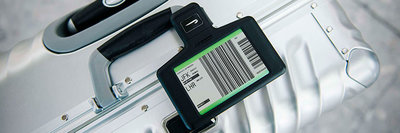 British Airways digital bag tag