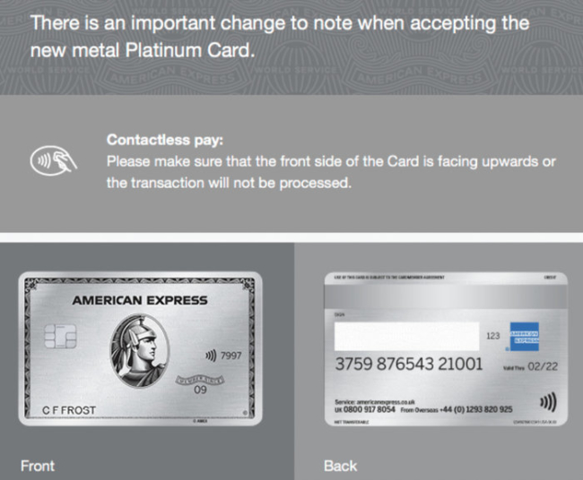 American Express Platinum contactless rule