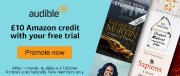Audible £10 voucher sign-up trial