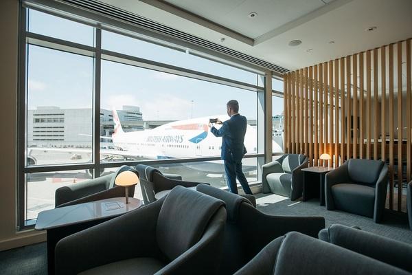 British Airways San Francisco Lounge view