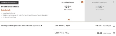 IHG Rewards Club Bonus Points Packages