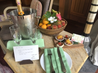 Four Seasons Langkawi review welcome amenity