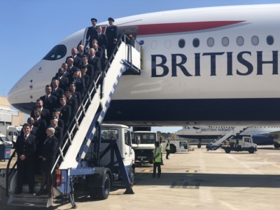 BA A350 Arrival event cabin crew
