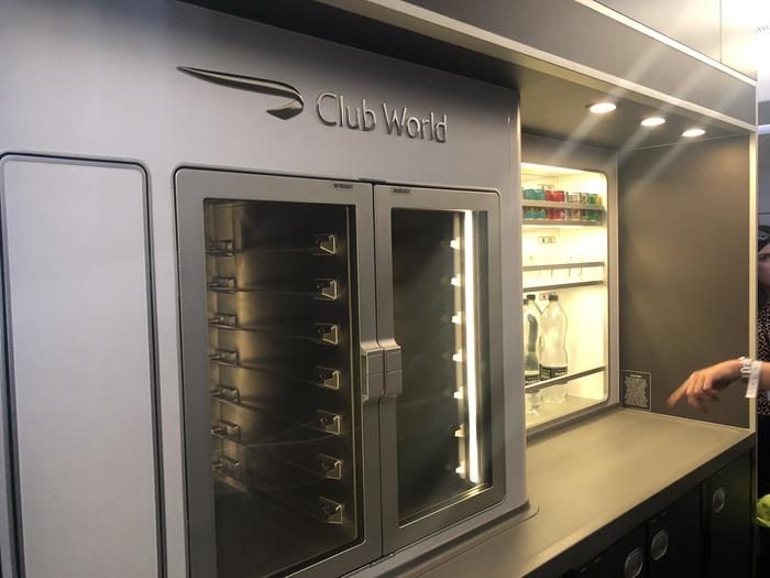 British Airways A350 Club Suite kitchen