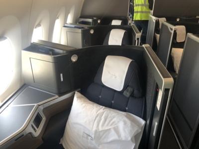 British Airways A350 Club Suite cabin