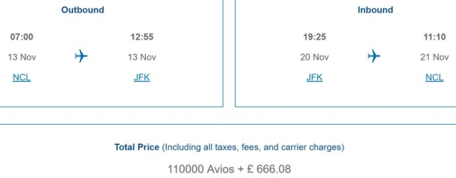 Avios devaluation