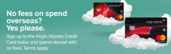 Virgin Atlantic credit cards no FX fees