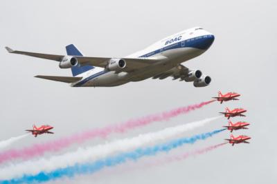 British Airways Red Arrows flypast 2019